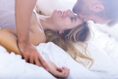 Poster Young marriage during morning sex