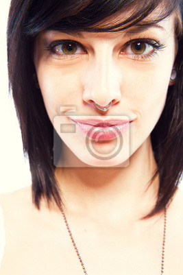 young woman with piercing