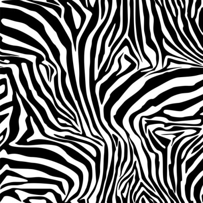 Poster Zebra Stripes . Background. Pattern. A seamless pattern.