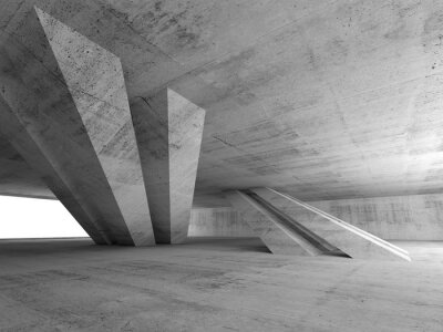 Sticker 3d abstract empty concrete room interior