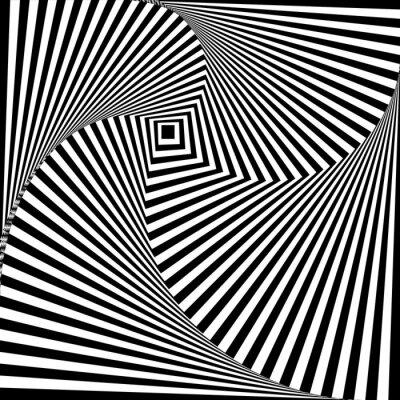Sticker A black and white optical illusion
