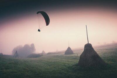 Above the haystacks valley. Instagram stylisation