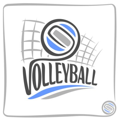 Sticker Abstract background on the volleyball theme