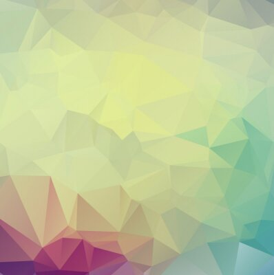 Sticker Abstract  colorful Triangle Geometrical Illustration Modern Desi