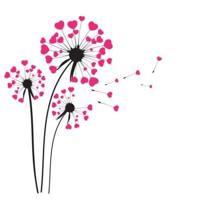Sticker Abstract Dandelion Background Vector Illustration