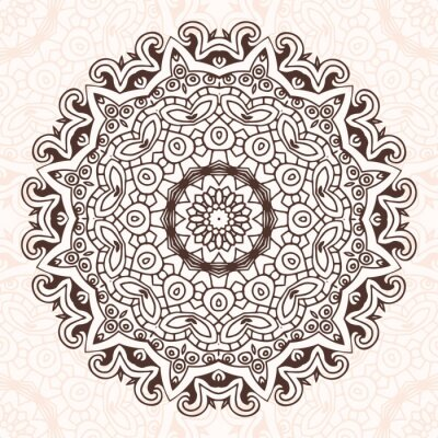 Sticker Abstract design element. Round mandala in vector. Graphic template for your design.