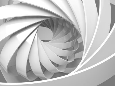 Sticker Abstract digital background with 3d spiral structure