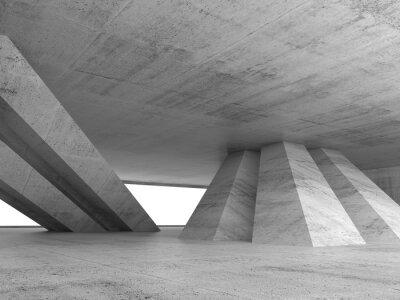 Sticker Abstract empty concrete interior 3d render