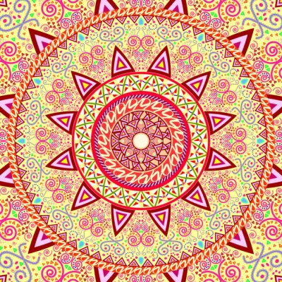 Sticker Abstract Ethnic Ornate Background For Design