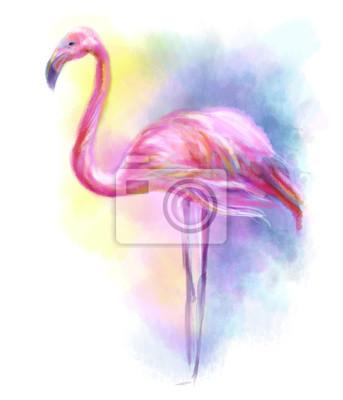 Sticker Abstract flamingo pink illustration