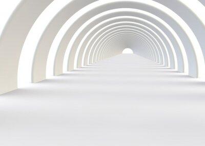 Sticker Abstract futuristic tunnel in a contemporary style