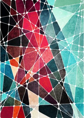 Sticker abstract geometric grunge background