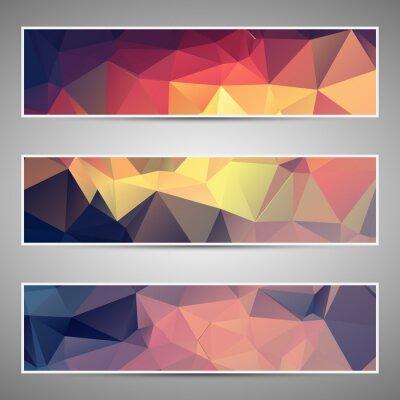 Sticker Abstract geometric triangular banners set