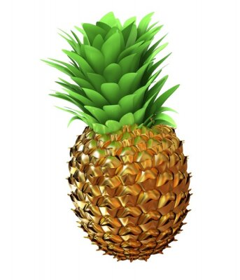 Sticker Abstract gold pineapple