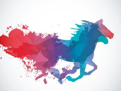 Sticker Abstract horse