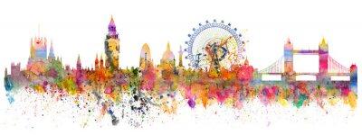 Sticker Abstract illustration of the London skyline