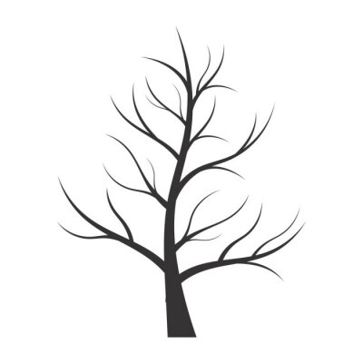Sticker Abstract illustration - tree silhouette
