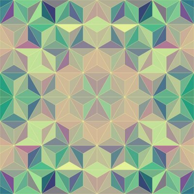 Sticker Abstract Mosaic Pattern