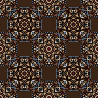 Sticker abstract seamless colorful ethnic pattern. seamless background