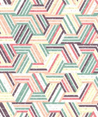 Sticker Abstract seamless pattern of a plurality of triangles and stripes. Textured background.