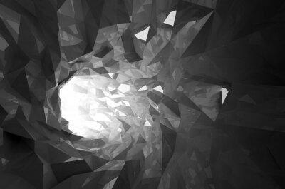 Sticker Abstract shining black crystal digital tunnel 3d