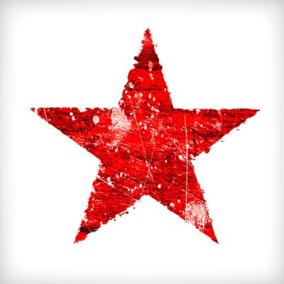 Sticker Abstract star on a white background