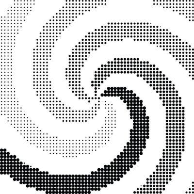 Sticker Abstract swirl halftone dot vector