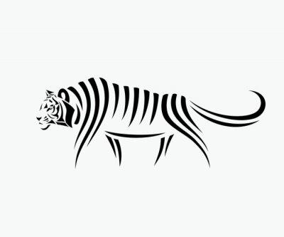 Sticker Abstract tiger illustration