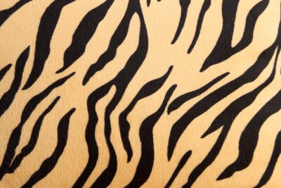 Sticker abstract with Bengal tiger texture
