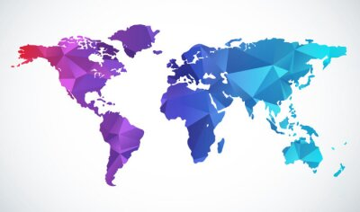 Sticker Abstract world map