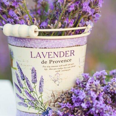 Sticker accessories in lavender flowers