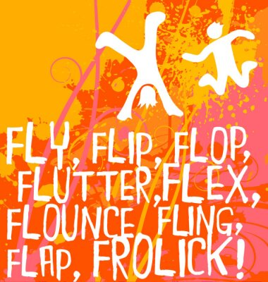 Sticker active figures motivational text fitness poster series