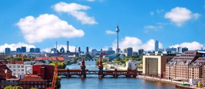 Sticker aerial photo berlin skyline