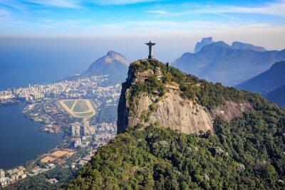 Sticker Aerial view of Christ the Redeemer and Rio de Janeiro city