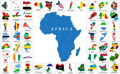 Sticker Africa countries flag maps
