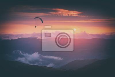 Against the sunset sky. Instagram stylisation