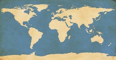 Sticker Aged World Map