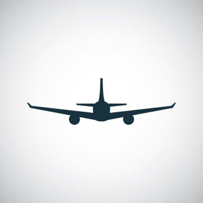 Sticker airplane icon