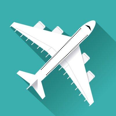 Sticker Airplane icon design