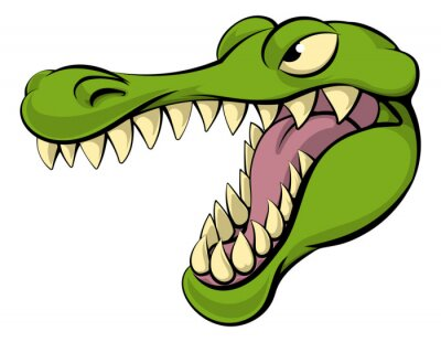 Sticker Alligator or crocodile cartoon character