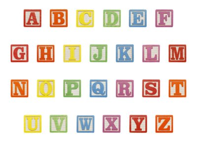 Sticker Alphabet Blocks Top