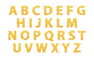 Sticker Alphabet Made of Cheese