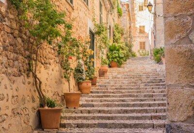 Sticker Altes Dorf Gasse Treppe Mediterran