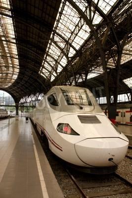 Sticker Alvia train station in France, Barcelona, Spain