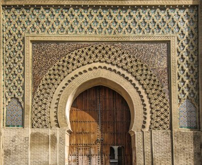 Sticker Ancient gates in Meknes, Morocco