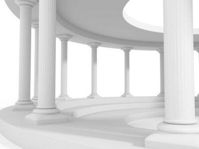 Sticker ancient style column architecture design background