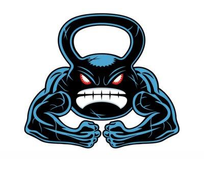 Sticker angry kettlebell