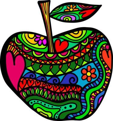 Sticker Apple Doodle
