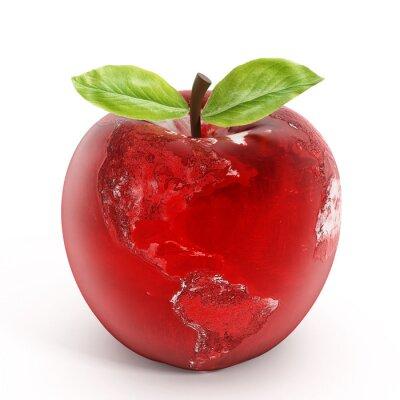 Sticker Apple earth