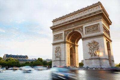 Sticker Arc de Triomphe in Paris afternoon